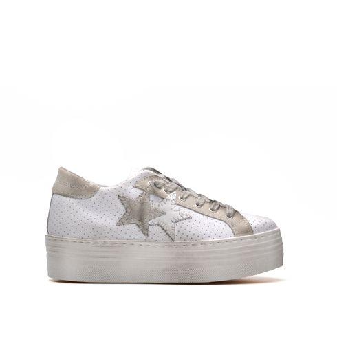 2Star sneaker platform da donna in pelle