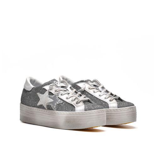2Star sneaker platform donna glitter
