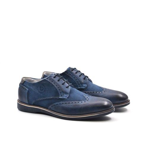 Bugatti scarpa derby da uomo in pelle