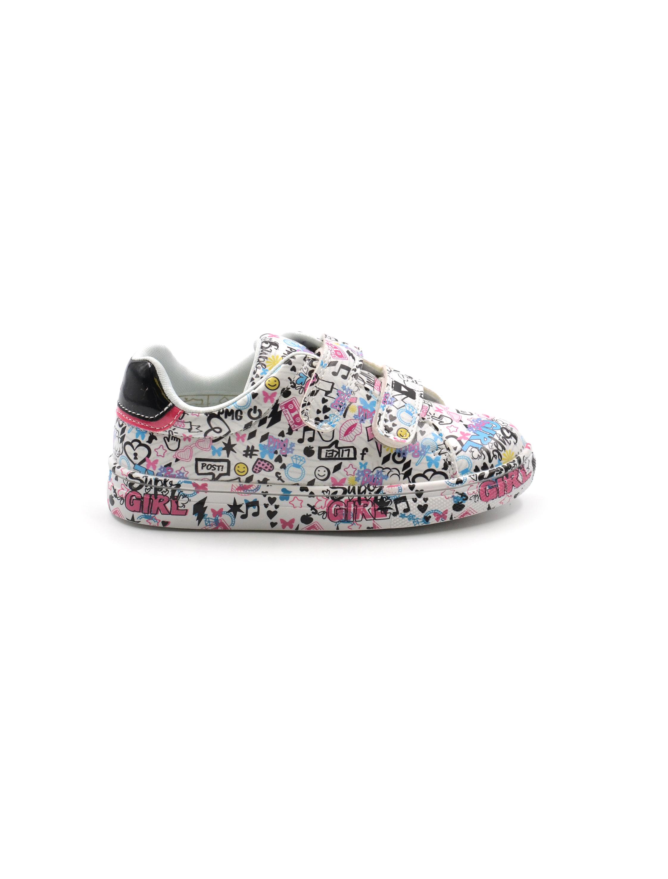 Primigi sneaker da bimba fantasia, Sneakers, colore BIANCO
