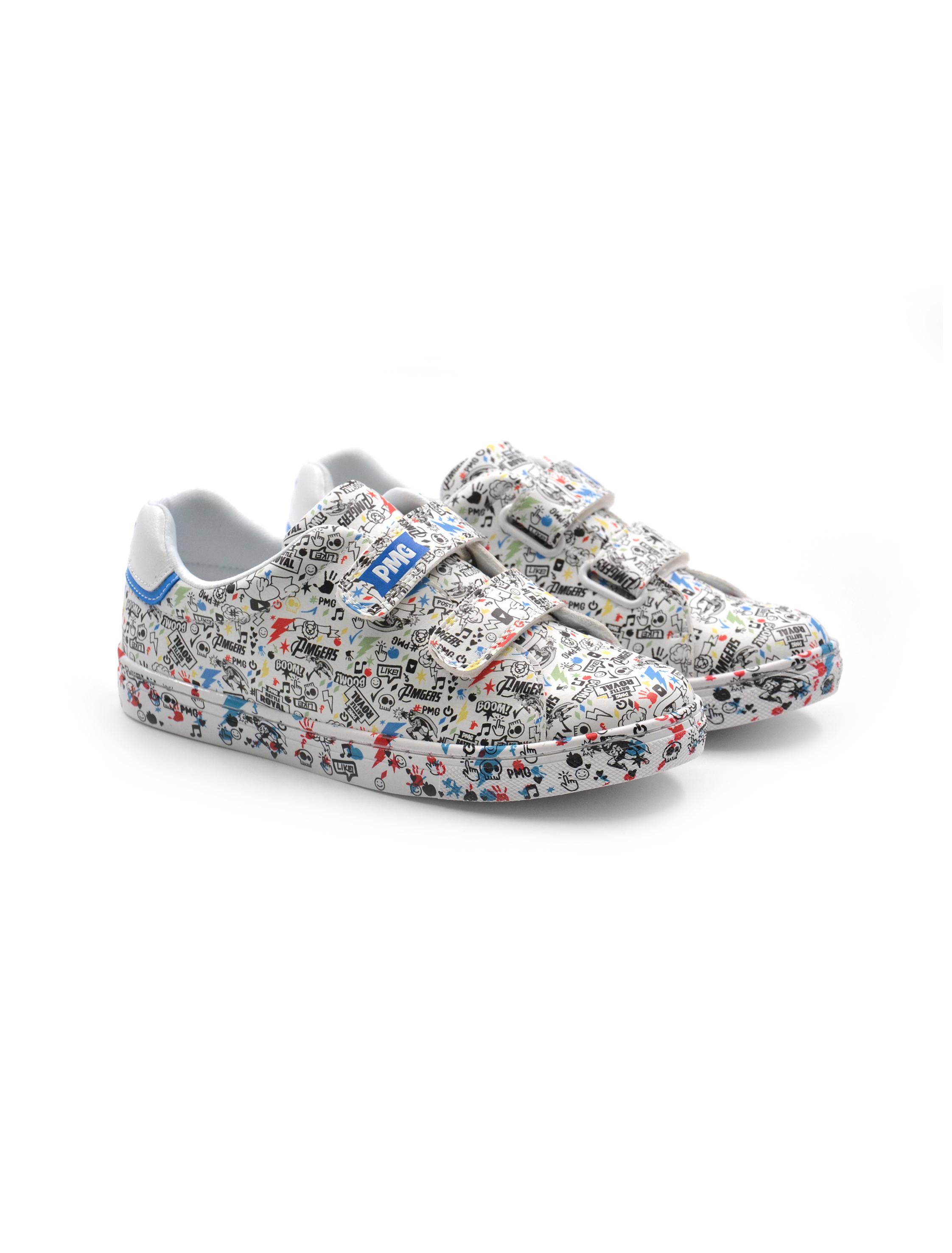 Primigi sneaker da bimbo fantasia, Sneakers, colore Bianco