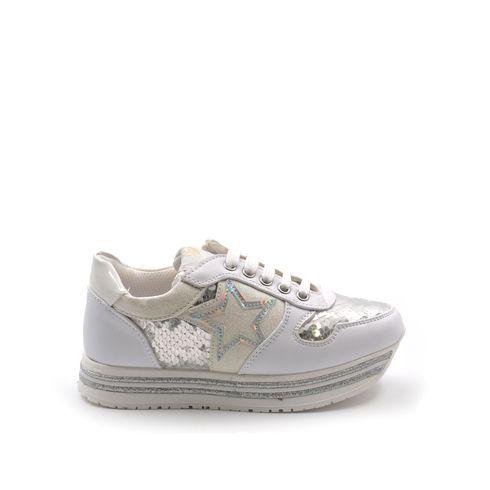 Asso sneaker platform da bimba con zip