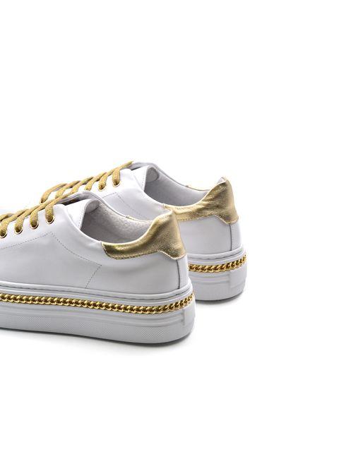 Conté sneaker vera pelle con catenella