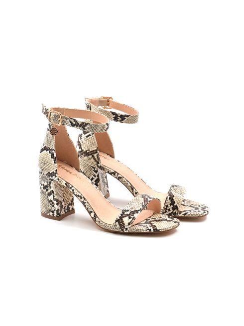 Gold&Gold sandalo da donna pitonato