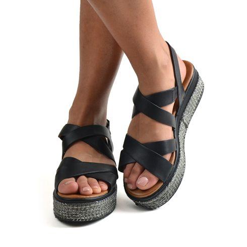 Malena sandalo da donna con fondo corda