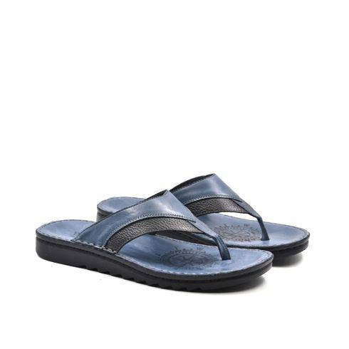 Sandalo a infradito da uomo in pelle