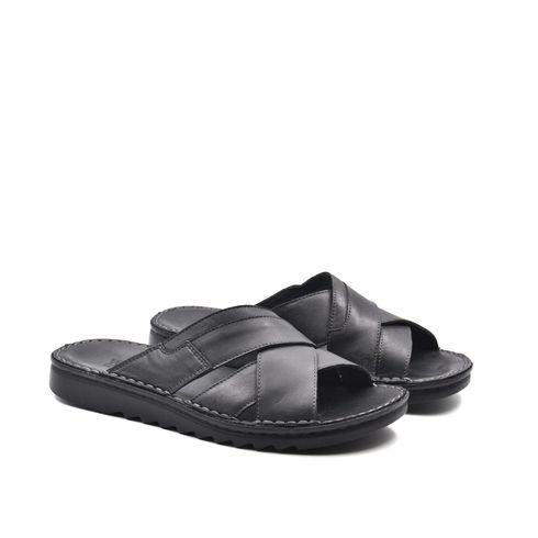 Sandalo a ciabatta da uomo in pelle