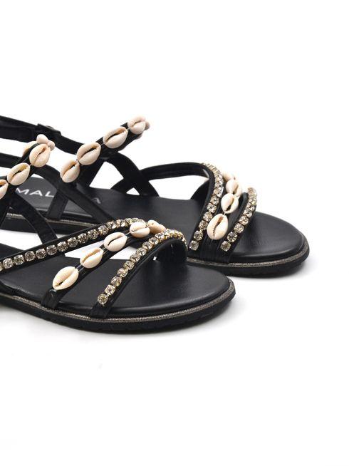 Sandalo donna con pietre e conchiglie
