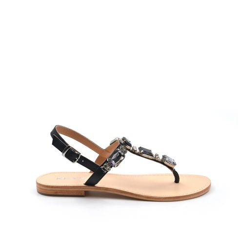 Sandalo gioiello da donna in pelle