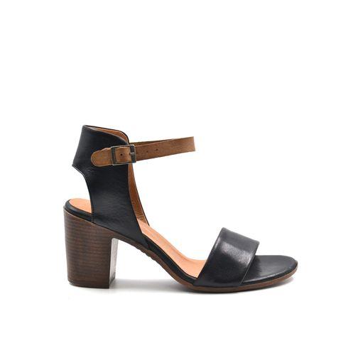 Sandalo da donna in pelle con tacco