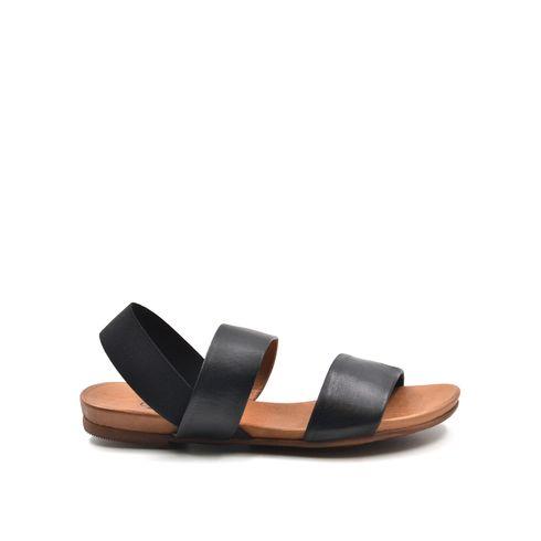 Sandalo da donna in pelle con elastico