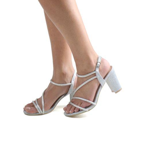 Sandalo da donna con glitter