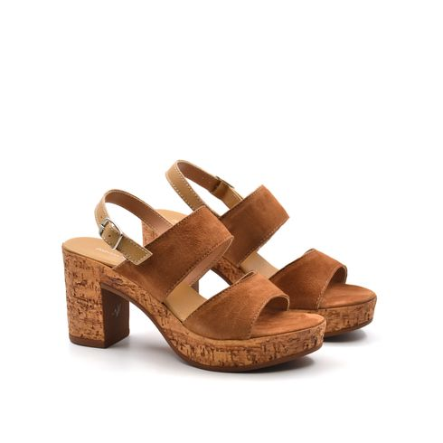 Sandalo da donna in pelle scamosciata