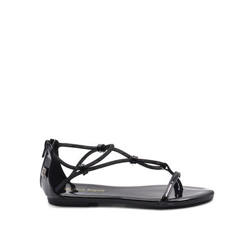 Sandalo infradito da donna con zip