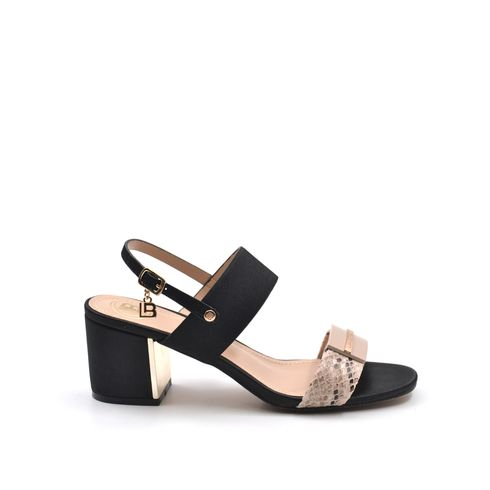 Sandalo da donna con inserto pitonato