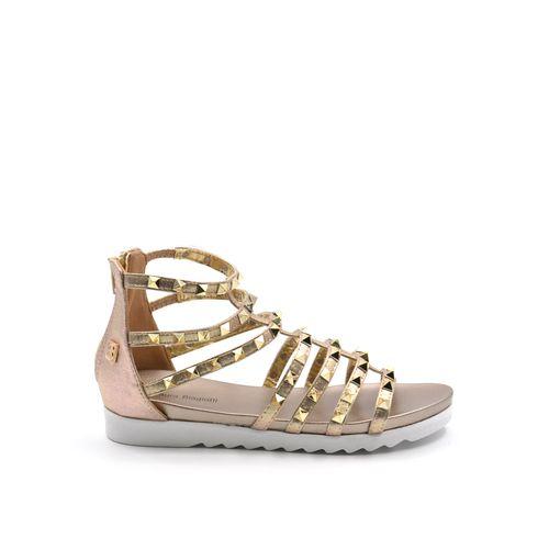 Sandalo da donna con borchie e zip