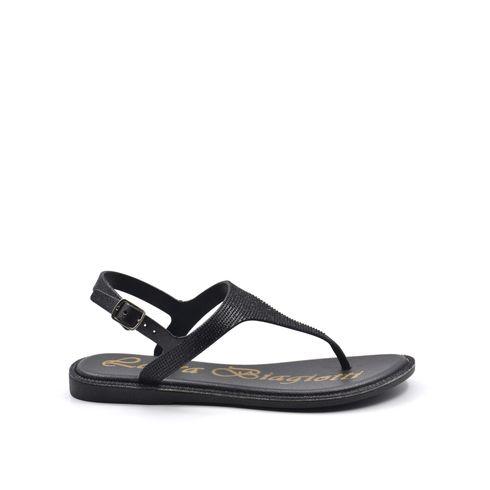Sandalo infradito da donna con glitter