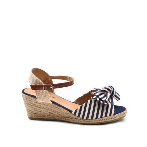 Sandalo da donna con zeppa in corda