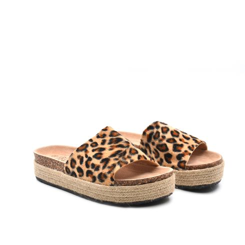 Ciabatta da donna leopardata