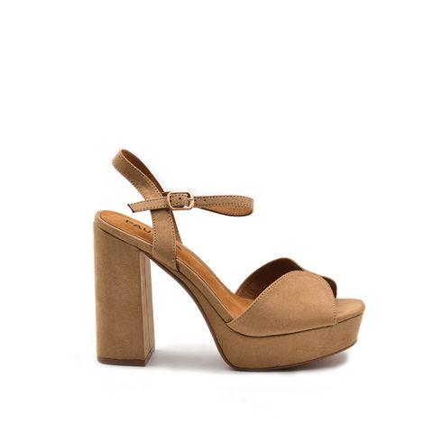 Sandalo donna con tacco alto e plateau