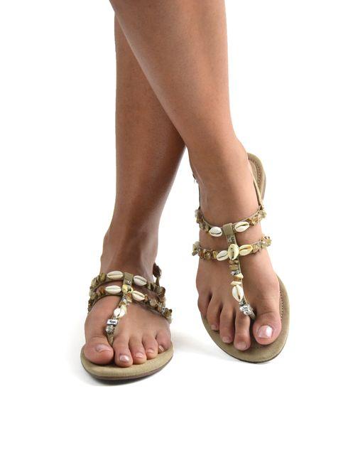 Paulina sandalo da donna con conchiglie