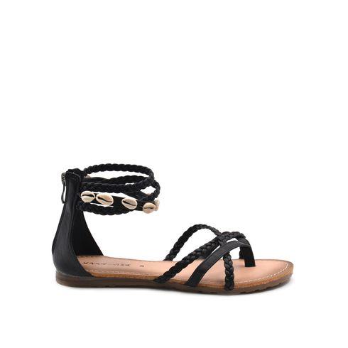 Sandalo infradito donna con conchiglie