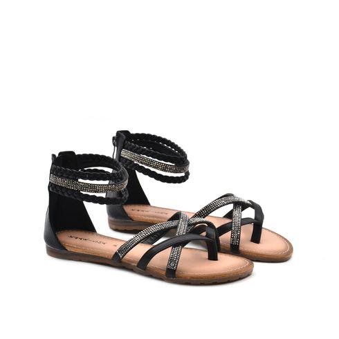 Sandalo infradito da donna con strass