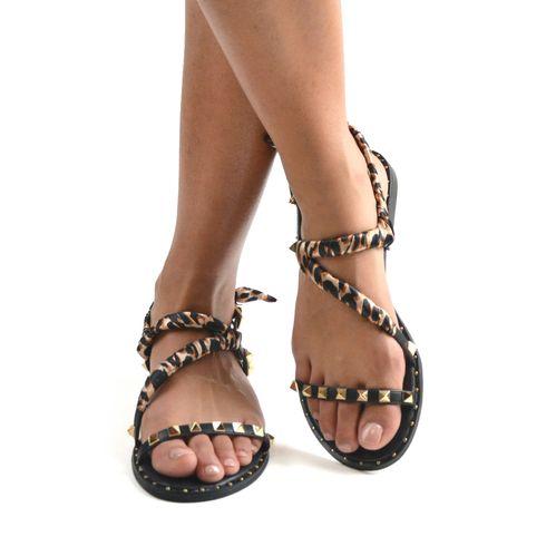 Sandalo da donna con borchiette