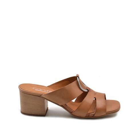 ConTé sandalo donna in pelle con tacco