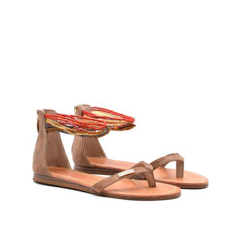 Sandalo da donna con perline