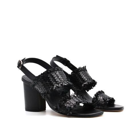 Sandalo da donna in pelle