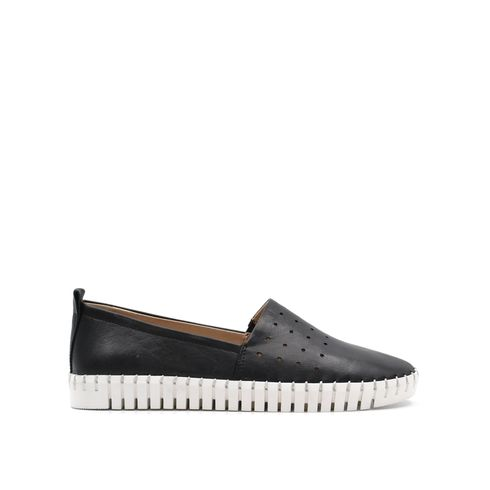 ConTé slip on da donna in pelle