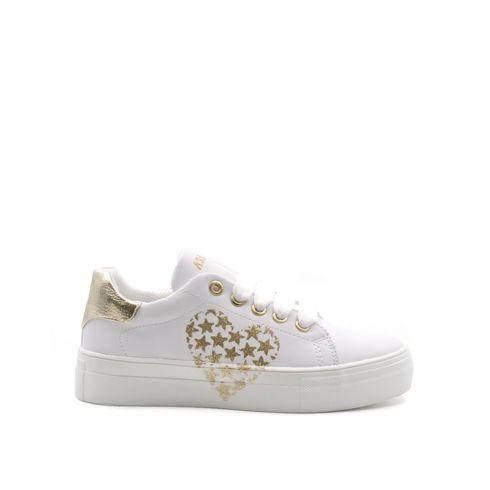 Asso sneaker da bimba con glitter e zip