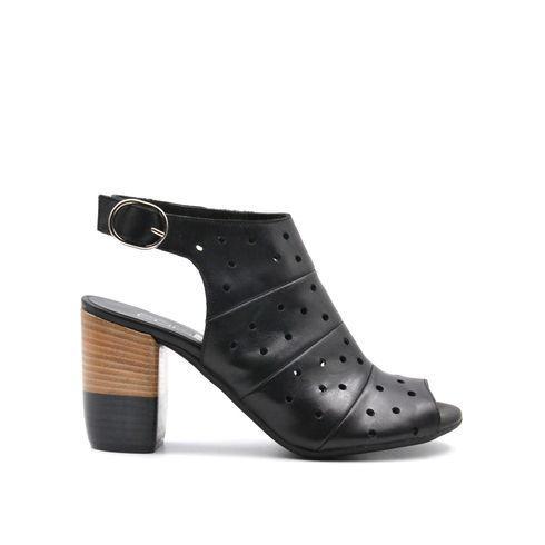 ConTé scarpa open toe da donna in pelle