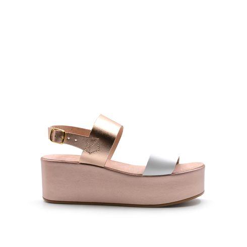 ConTé sandalo platform donna in pelle