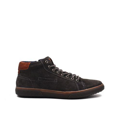 Sneaker alta da uomo in vera pelle