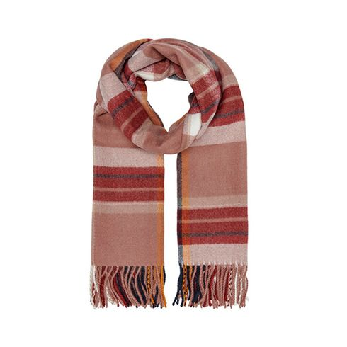 Only Onlscotch Check Weaved Scarf