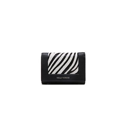 Kelly Kross small wallet zebra