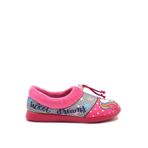 Pantofola bimba con unicorno