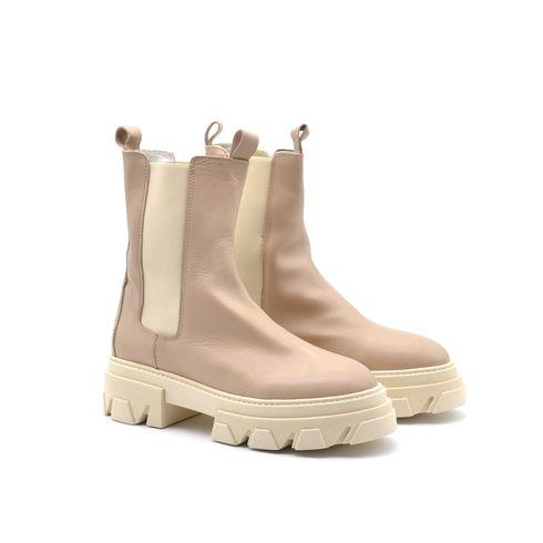 D.Scudieri combat boots in vera pelle