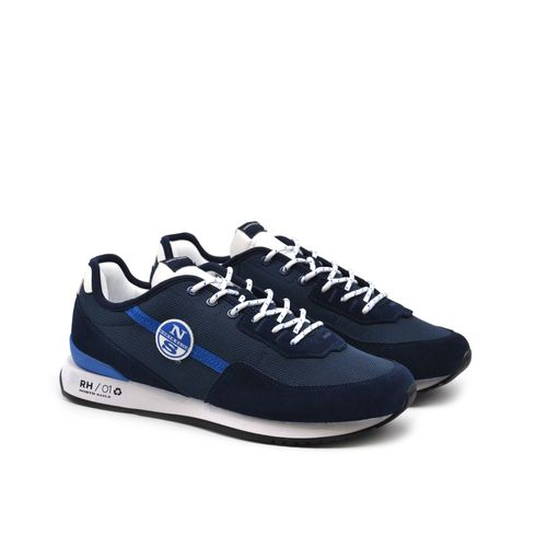 North Sails sneaker in pelle e tessuto