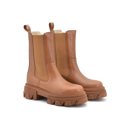 Combat boots donna in vera pelle