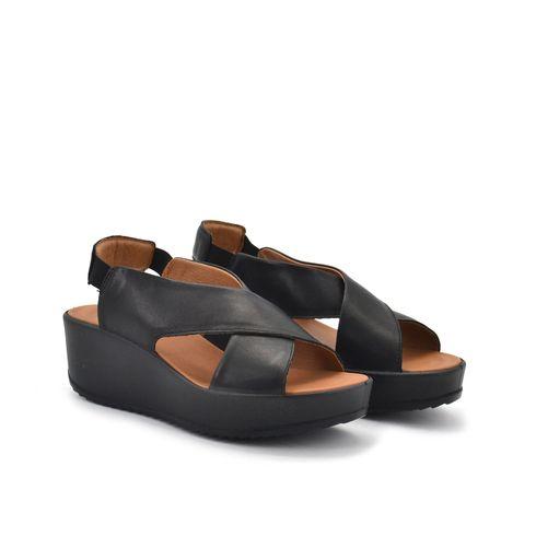 Igi&Co sandalo zeppa donna vera pelle