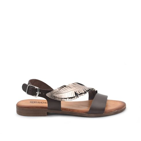Igi&Co sandalo in vera pelle con frange