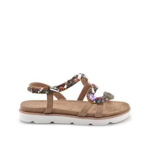Sandalo donna con strass