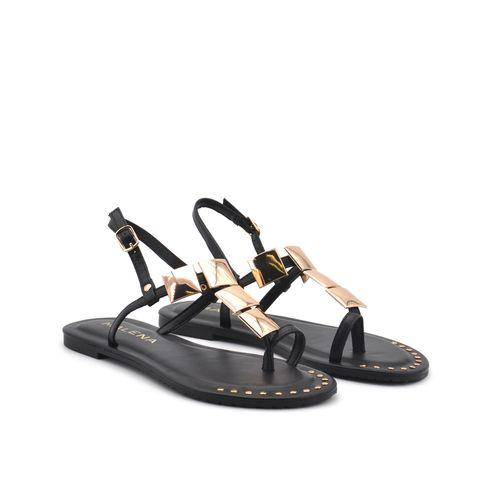 Sandalo da donna con inserti laminati