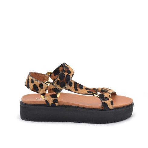 ConTé sandalo animalier da donna