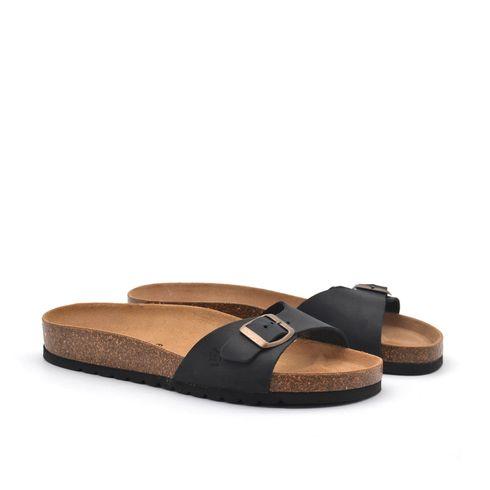 Sandalo ciabatta da donna in vera pelle