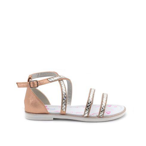 Sandalo bimba con strass