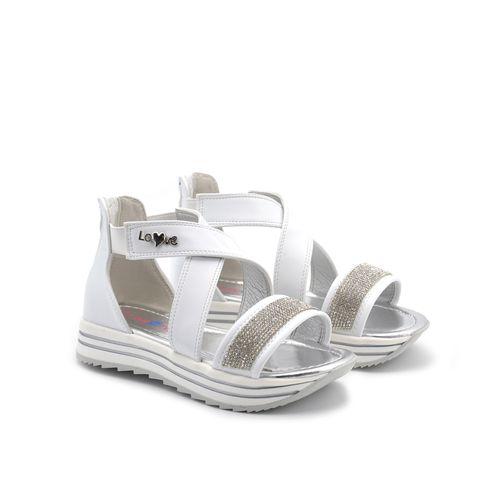 Sandalo da bimba con strass